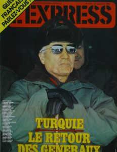 Express Kapak 27 Eylül 1980 Kenan Evren, Coşkun Aral