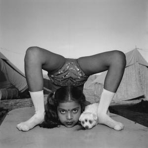 MEM_Hindistan Sirkleri - Akrobat köpeği ile, Raj Kamal Sirki,Upleta, 1989
